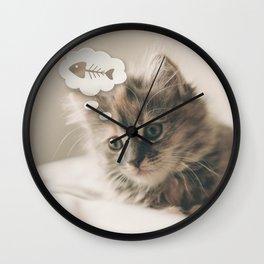 Dreaming Cat Wall Clock