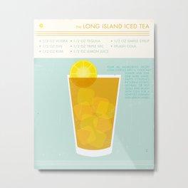 Long Island Iced Tea Cocktail Art Print Metal Print