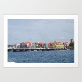 Colorful Willemstad Architecture Art Print