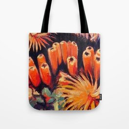 Tube Coral Tote Bag