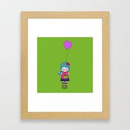 Kokoro Flower balloon - green Framed Art Print