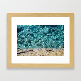 Crystal Blue Ripple Framed Art Print