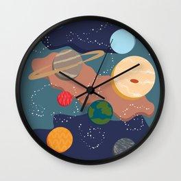 Offset Solar System Wall Clock