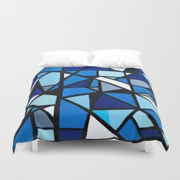 Blue Geometric Duvet Cover