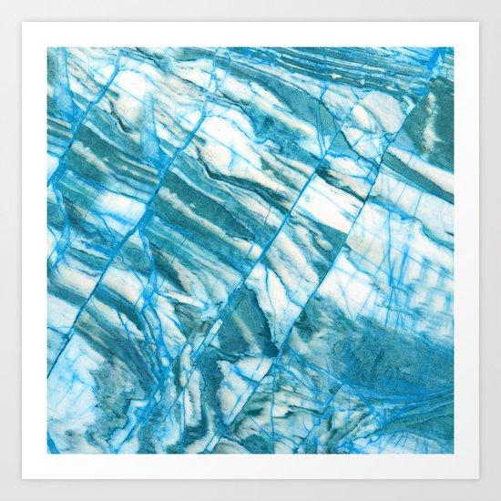 Blue marble Art Print