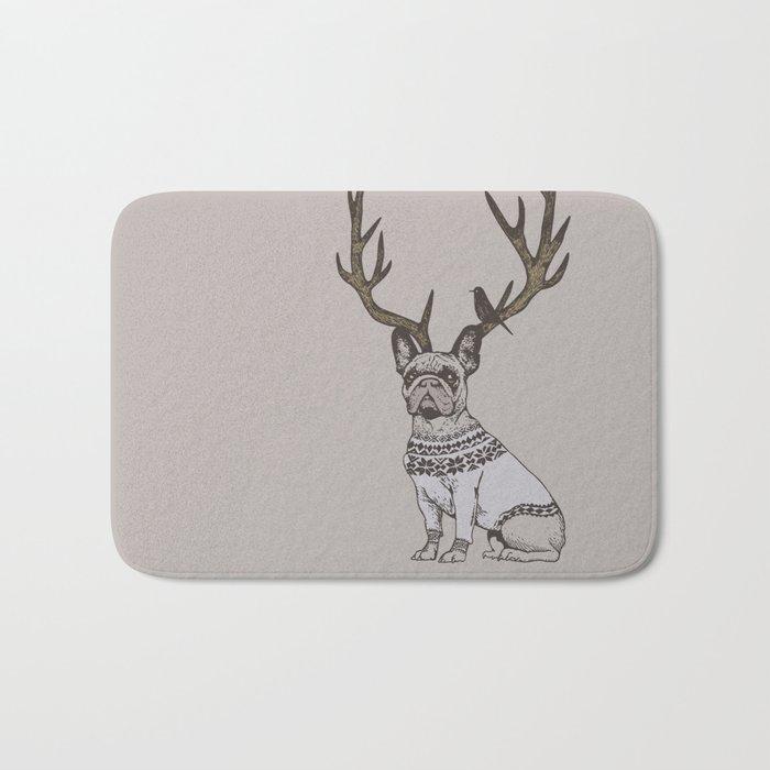 Deer Frenchie Bath Mat