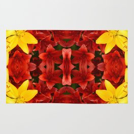 """""""A Gathering of Lilies"""" Remix - 1 (2-1) [D4465~12] Rug"""