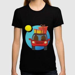Travel car cartoon design T-shirt