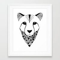 cheetah Framed Art Prints featuring Cheetah by Art & Be