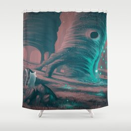 Spores Shower Curtain