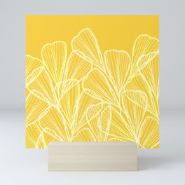 Golden Yellow Flora Mini Art Print