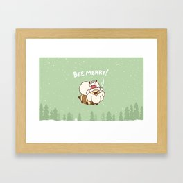 Bee Merry Framed Art Print
