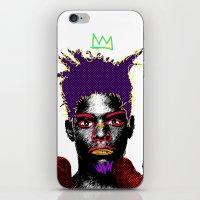 basquiat iPhone & iPod Skins featuring Basquiat by Kibwe Maono