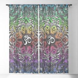 Rainbow Om Sheer Curtain