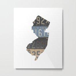 Vintage New Jersey Metal Print
