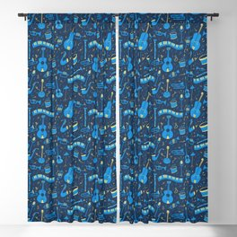 The Spirit of Jazz Pattern Blackout Curtain