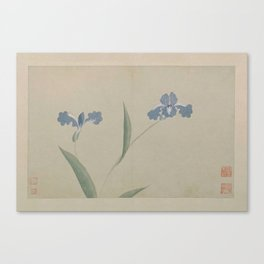 Vintage Chinese Ink and Brush Painting and Calligraphy Canvas Print
