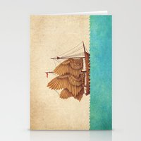 sea Stationery Cards featuring Winged Odyssey by Terry Fan