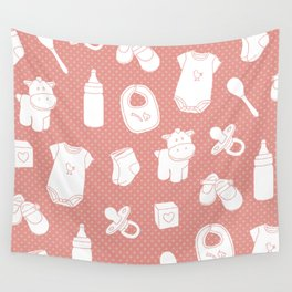 Baby red Wall Tapestry