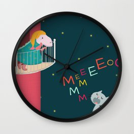 Sounds in the night Wall Clock