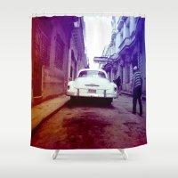 cuba Shower Curtains featuring Cuba 2 by very giorgious