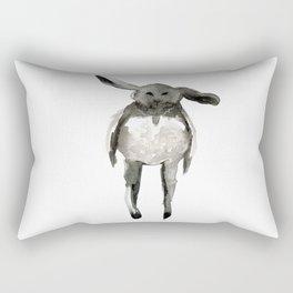 Black Rabbit Rectangular Pillow