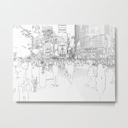 Tokyo citylife Metal Print