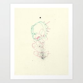 Over selected Art Print