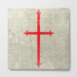 Templar Cross Metal Print