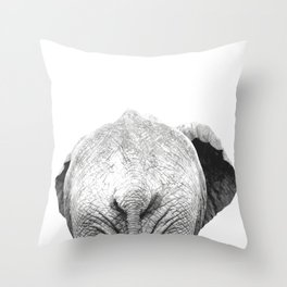 Black and white elephant animal jungle Throw Pillow