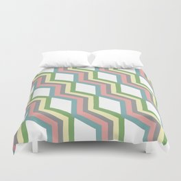Pastel Cheveron Pattern Duvet Cover