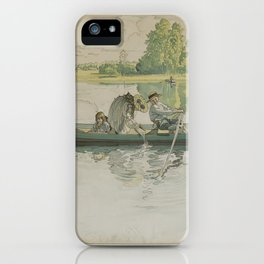 A litographic print after CARL LARSSON by V. Jernberg Lit., mid 20th Century. iPhone Case