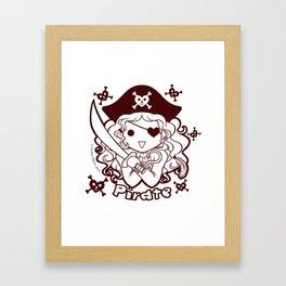Kawaii Kiddies Cute Pirate! Framed Art Print