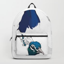 Peacock Head Backpack