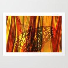 The beauty uncertain, behind its light curtain Art Print