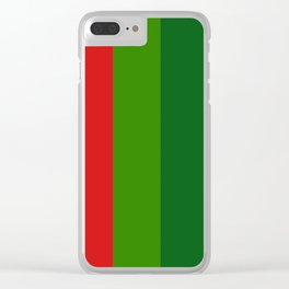 Christmas color chart Clear iPhone Case