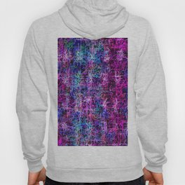 psychedelic abstract art pattern texture background in pink blue black Hoody