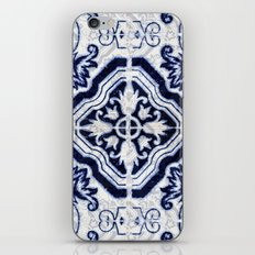 blue tile pattern VII - Azulejos, Portuguese tiles iPhone & iPod Skin