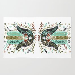 Hamsa Hand – Earth Palette Rug