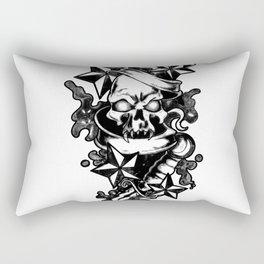Skull and Dagger [Black and White] Rectangular Pillow