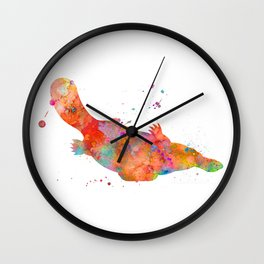Colorful Platypus Wall Clock