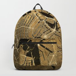 amsterdam map gold Backpack