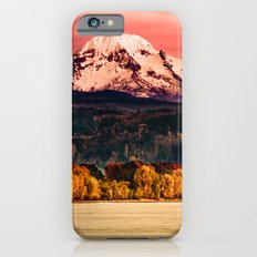 Mountains and Forest Water Sunset - Mt Hood Snow Mountain over the Columbia River Slim Case iPhone 6s