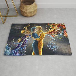 Hannigram Fire and Water Hannibal Lecter Will Graham Kiss Rug