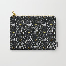 Bewitching Witchy Pattern in Yellow Carry-All Pouch