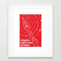 soviet Framed Art Prints featuring Minimal soviet  by Cardula