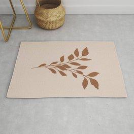 Terracotta leaves Rug