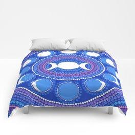 Moon Cycle Mandala Comforters