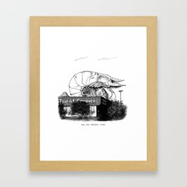 Big Prawn, NSW Framed Art Print
