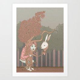 """""""Nel bosco immaginario"""" Art Print"""